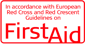 In accordance with European Red Cross and Red Crescent Guidelines on FirstAid