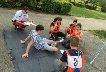 Mladí záchranári CO v Topoľčanoch