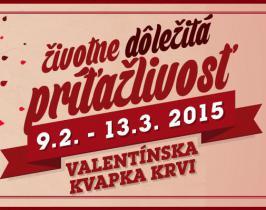 Valentínska kvapka krvi 2015